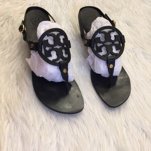 Tory Burch Holly Kitten Heel Miller Sandal